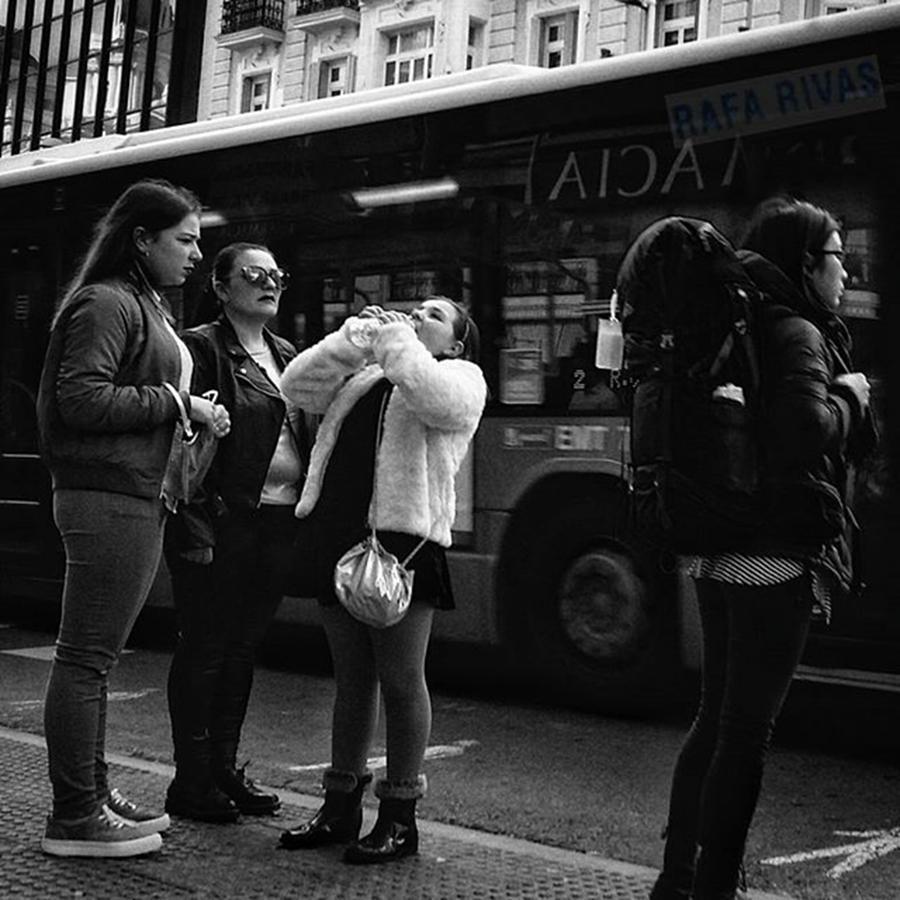 Girl Photograph - Thirsty Girl  #girl #water #drink by Rafa Rivas