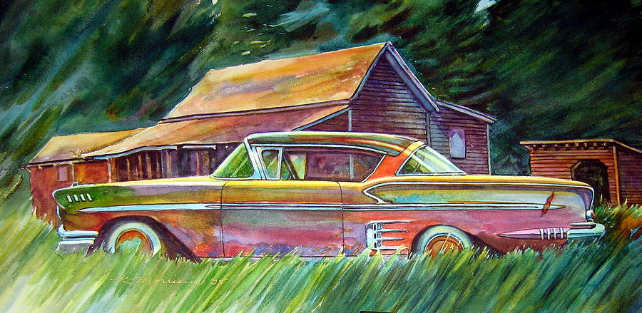 This Impala Doesn Painting by Ron  Morrison