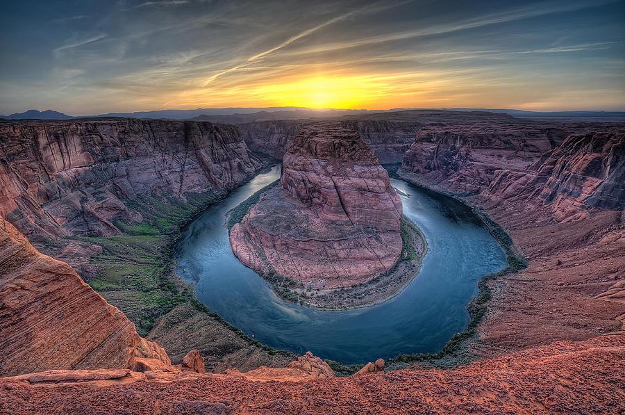 Windy Photograph - This Is Arizona No. 3 - Windy Horseshoe Bend by Paul W Sharpe Aka Wizard of Wonders