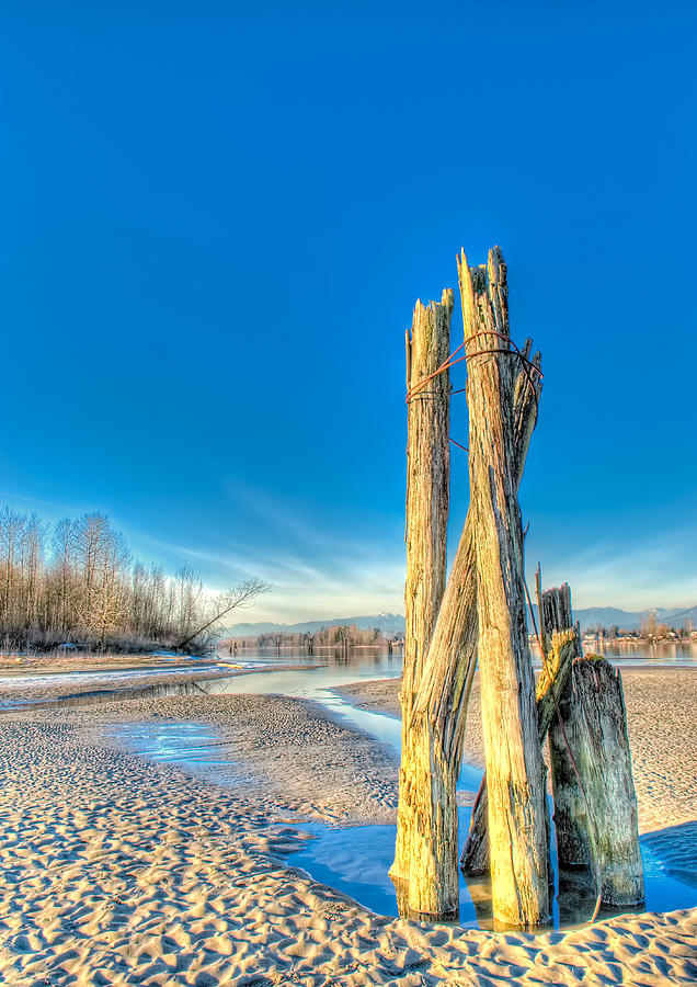 Fraser River Photograph - This Is British Columbia No.43 - Frost On The Fraser by Paul W Sharpe Aka Wizard of Wonders