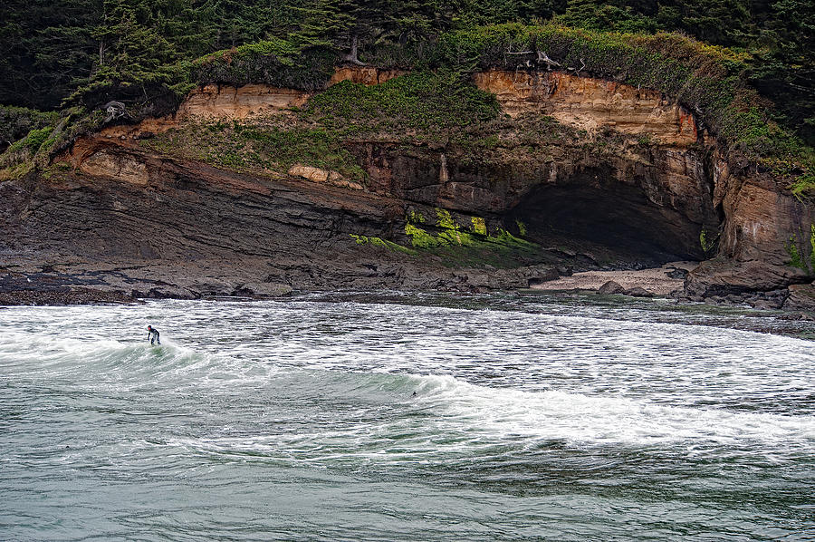 Oregon Photograph - This Is Oregon State No.13 - Surfing At Boiler Bay by Paul W Sharpe Aka Wizard of Wonders