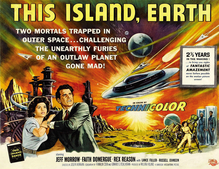 1950s Movies Photograph - This Island Earth, Faith Domergue, Rex by Everett
