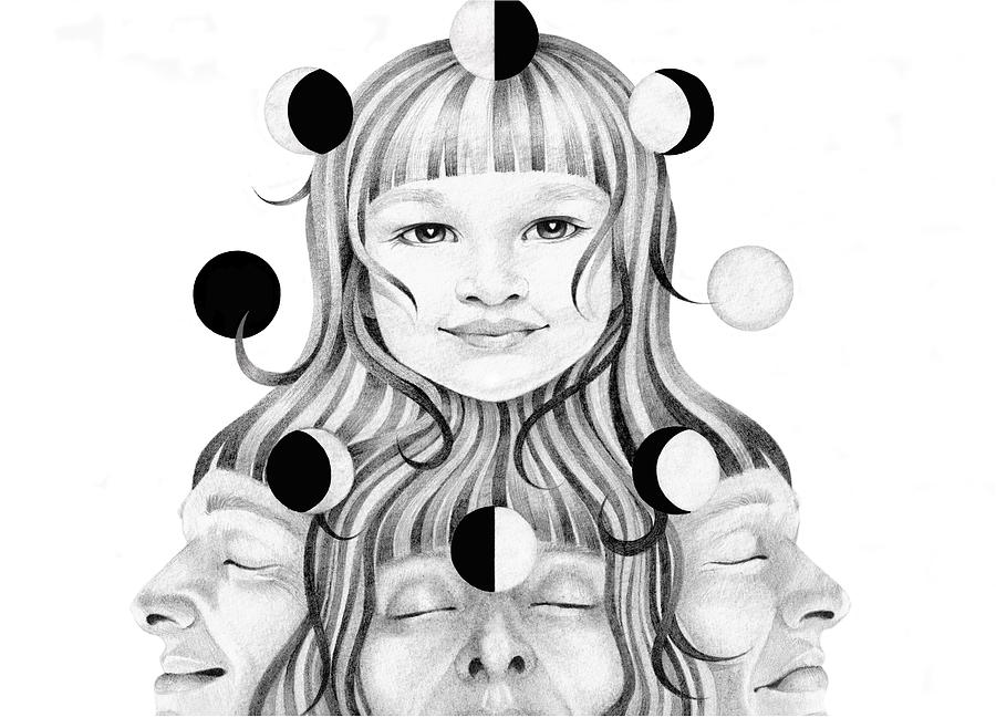 Portrait Drawing - This Life In My Hands Excerp by Deadcharming Art