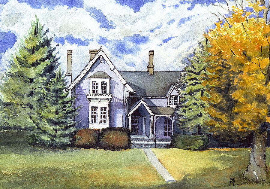 Old Homes Painting - This Old House by Katherine Miller
