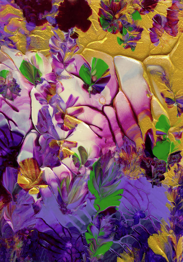 Flowers Painting - This Planet Earth by Nan Bilden