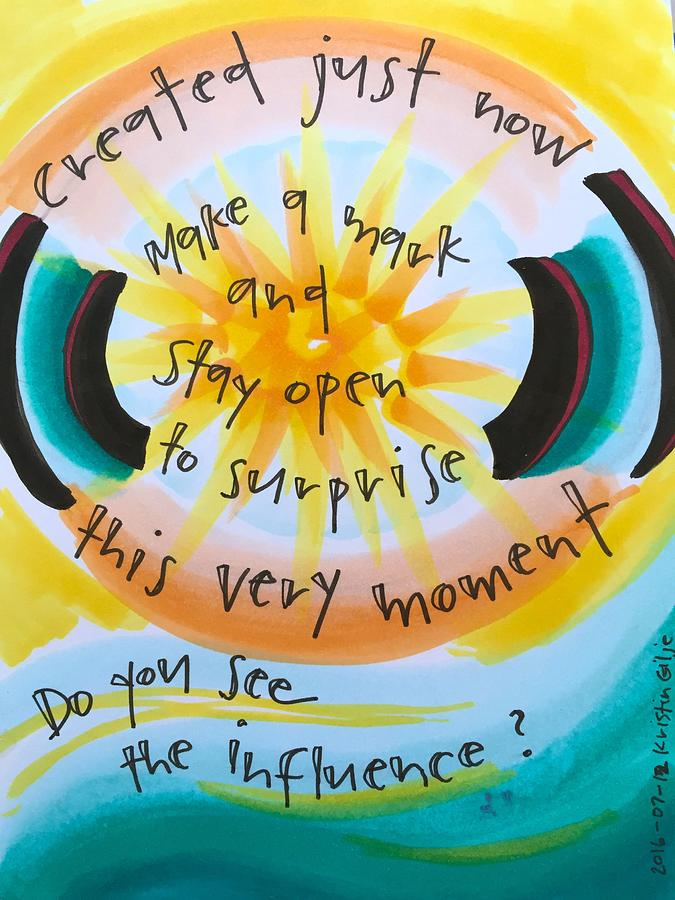 Creativity Painting - This Very Moment by Vonda Drees