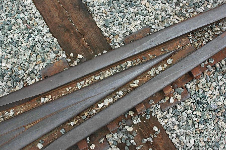 Rail Photograph - This Way by Dan Holm