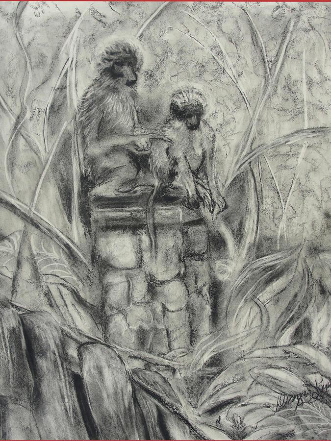 Monkeys Painting - This Way by Diana Kaye Obe