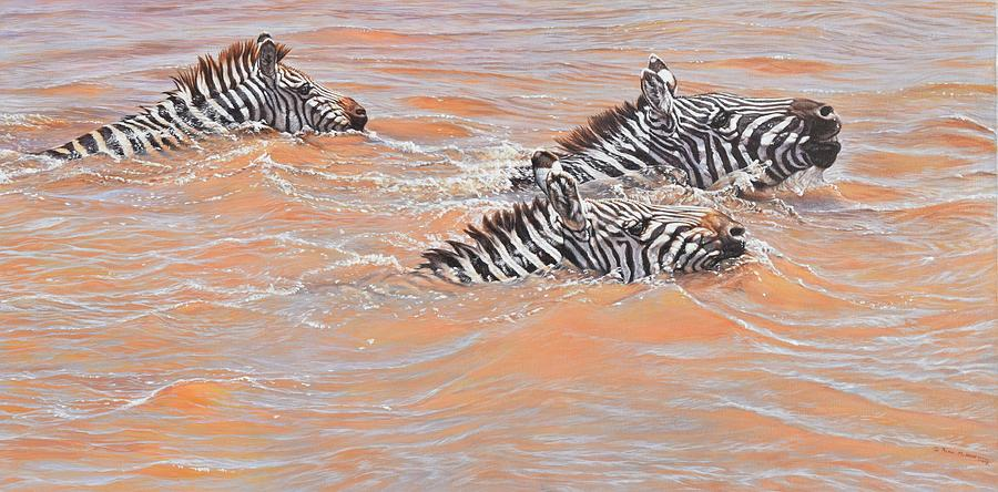Wildlife Artist Painting - This Way Son by Alan M Hunt