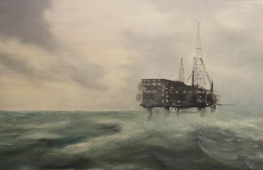 Thistle Painting - Thistle Alpha-north Sea by Douglas Ann Slusher