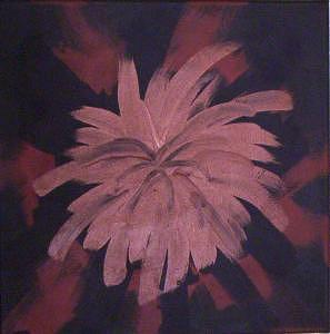 Black Painting - Thistle At Valley Of Fire by Jay Roler