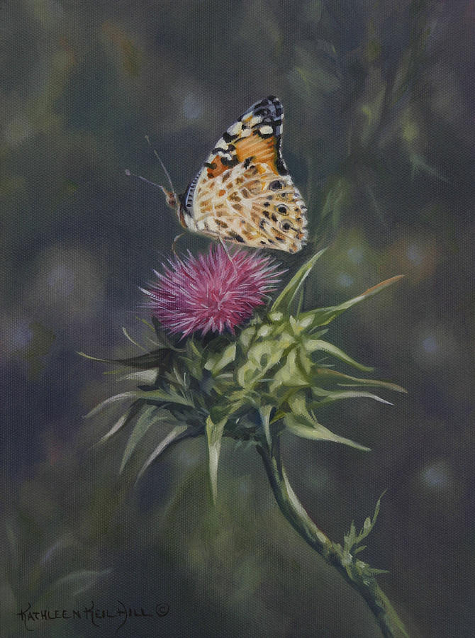 Thistle Painting - Thistle Dew by Kathleen  Hill