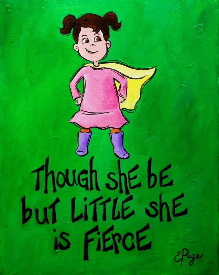 Little Girl Painting - Tho She Be But Little by Emily Page