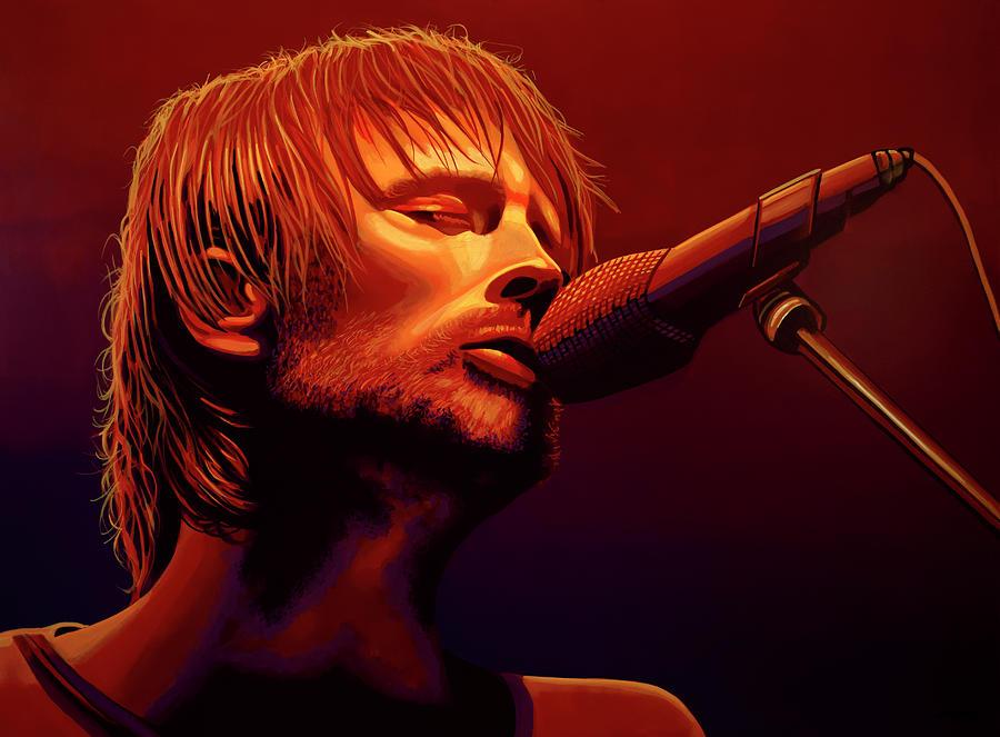 Thom Yorke Painting - Thom Yorke Of Radiohead by Paul Meijering