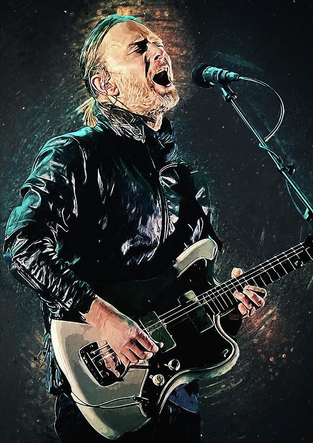 Thom Yorke Digital Art - Thom Yorke by Zapista OU