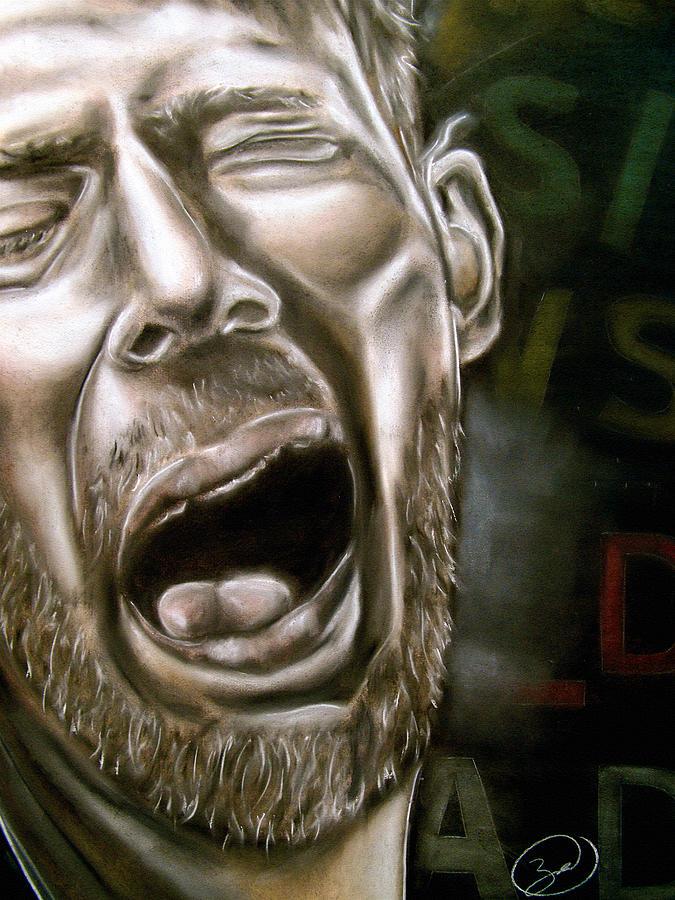 Thom Drawing - Thom Yorke by Zach Zwagil