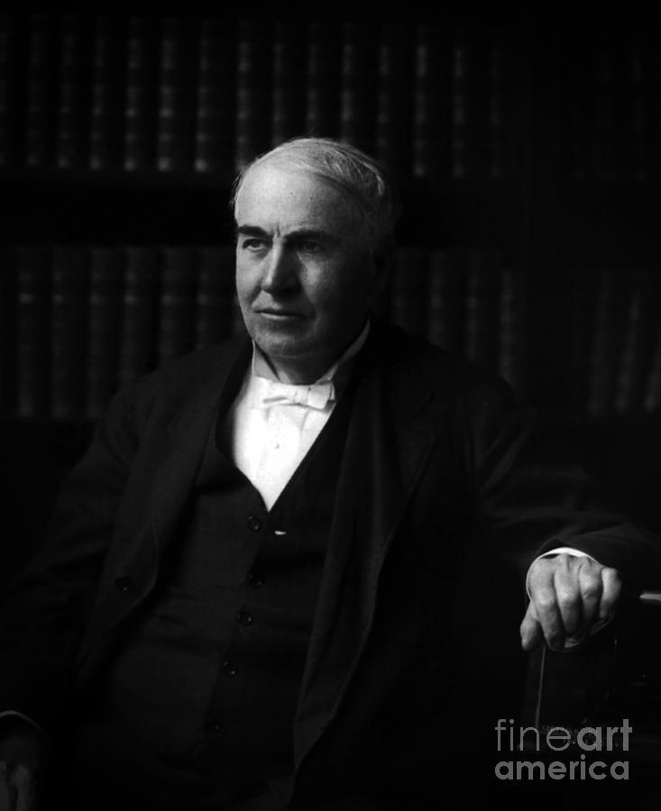 Thomas Alva Edison Photograph - Thomas Alva Edison 1913 by Sad Hill - Bizarre Los Angeles Archive