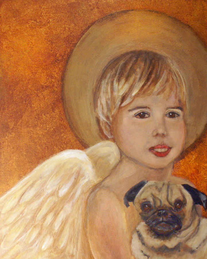 Angel Painting - Thomas And Bentley Little Angel Of Friendship by The Art With A Heart By Charlotte Phillips