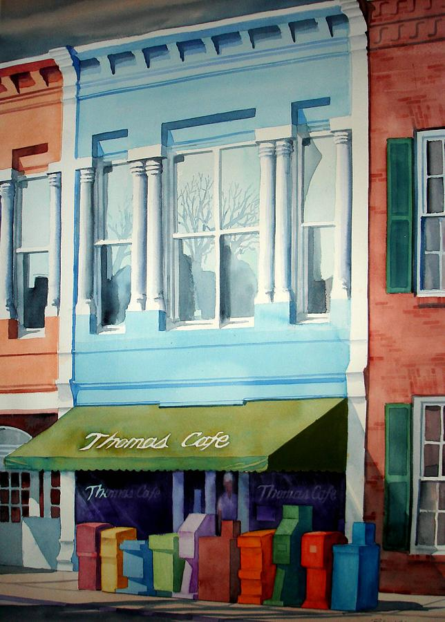 Landscape Painting - Thomas Cafe by Richard Staat