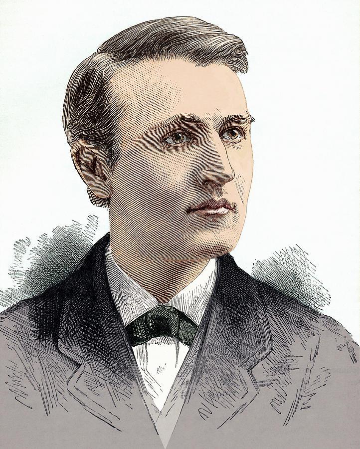 Thomas Alva Edison Photograph - Thomas Edison, American Inventor by Sheila Terry