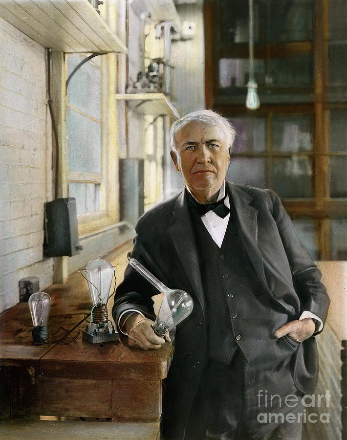 1915 Photograph - Thomas Edison by Granger