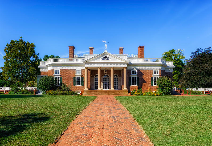 Super Thomas Jefferson Home Monticello 1 By Frank J Benz Home Interior And Landscaping Synyenasavecom