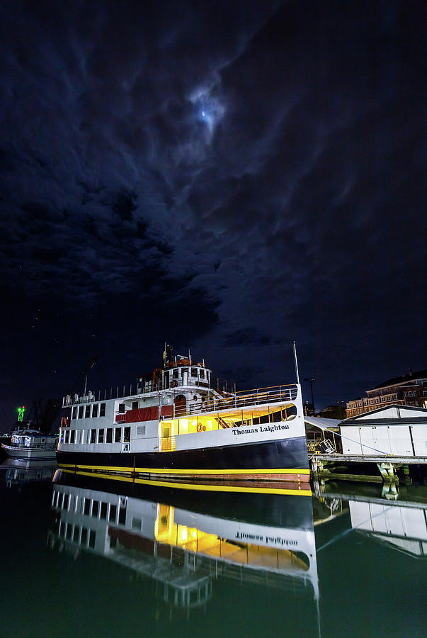 Portsmouth Photograph - Thomas Laighton Under Moonlight by Scott Patterson