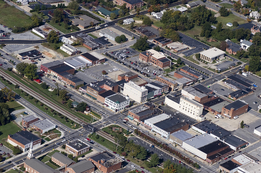 Thomasville Photograph - Thomasville Nc Aerial by Robert Ponzoni