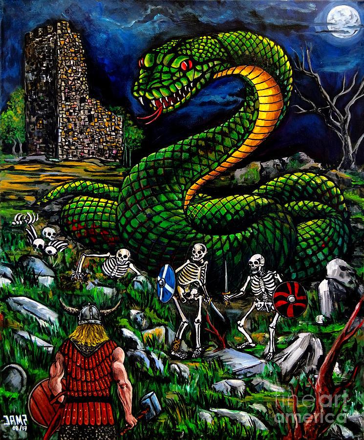 Thor Painting - Thor Ragnarok by Jose Mendez