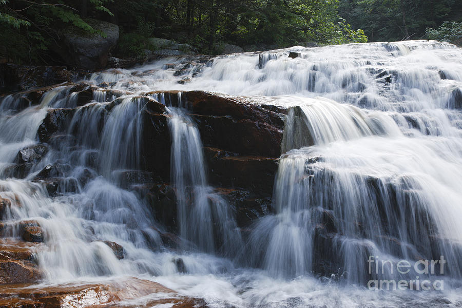 White Mountain National Forest Photograph - Thoreau Falls - White Mountains New Hampshire Usa by Erin Paul Donovan