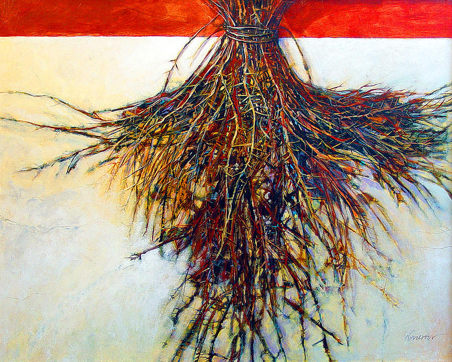 Tree Painting - Thorn Zia by Dale  Witherow