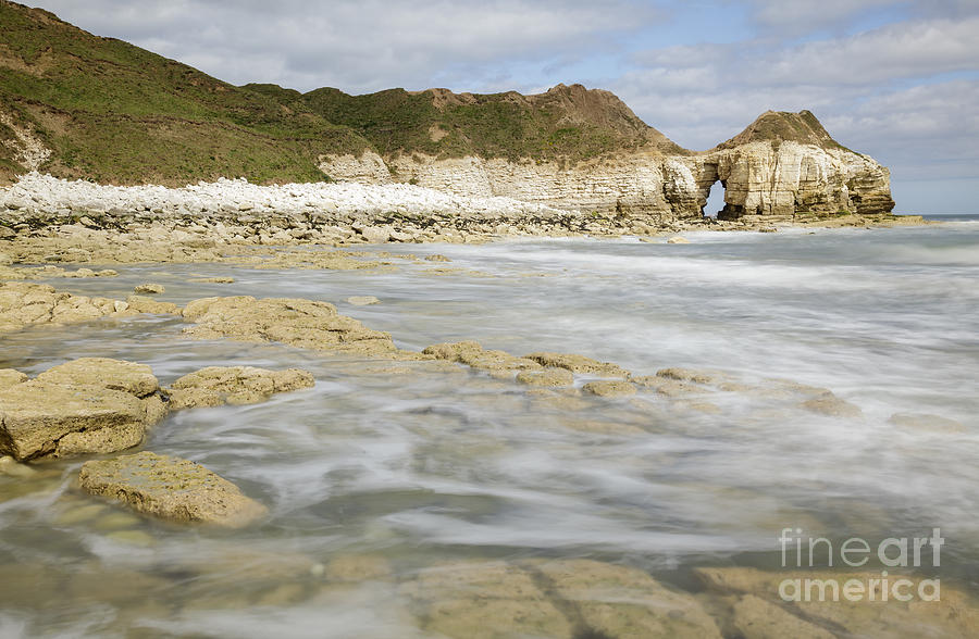 Bay Photograph - Thornwick Bay At Flamborough by Julie Woodhouse