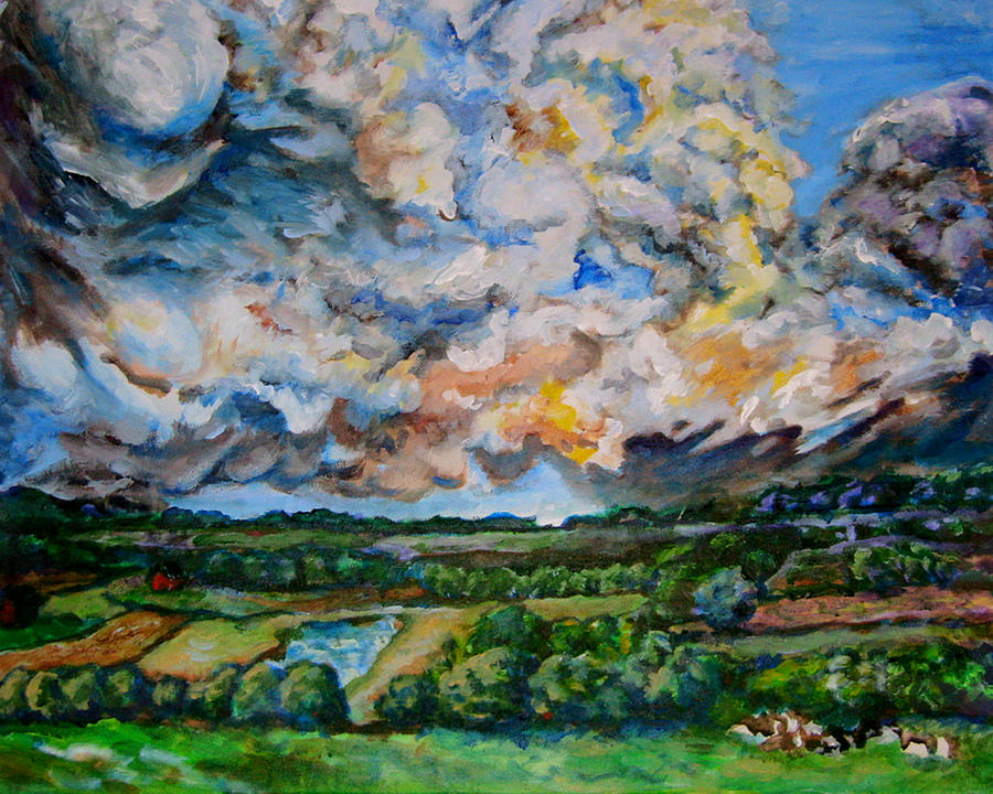 Landscape Painting - Thors Delight by Laura Heggestad