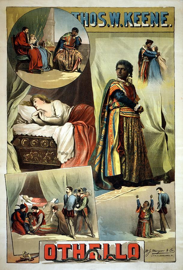 Thos W Keene - Othello - Performing Arts Poster - Retro Travel Poster - Vintage Poster Mixed Media