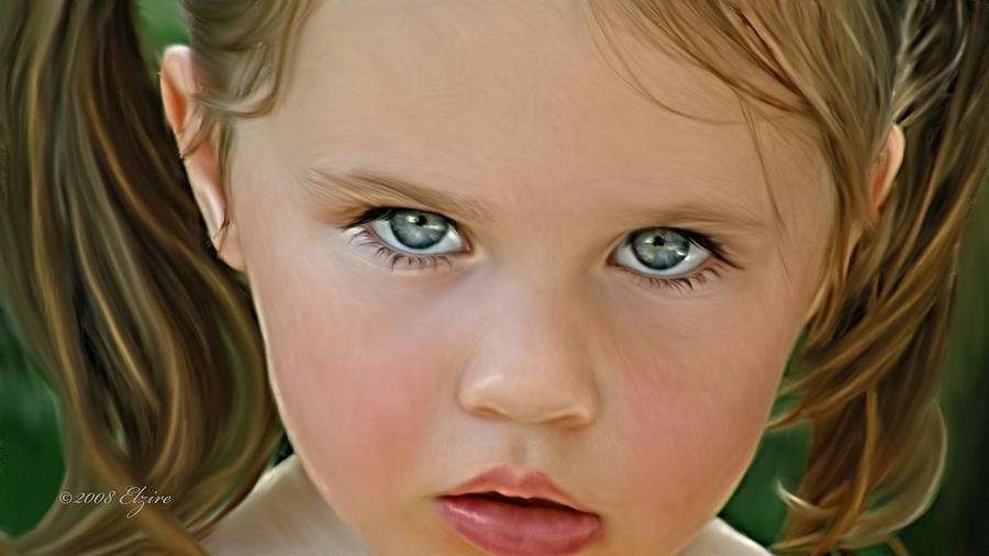Those Eyes Painting by Elzire S