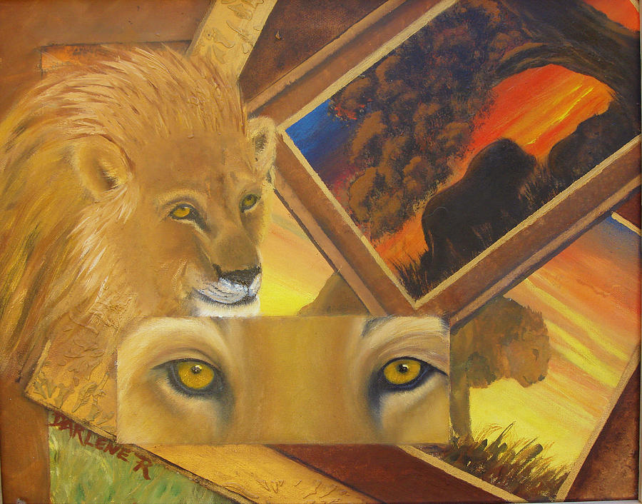 Lion Painting - Those Eyes Lion by Darlene Green