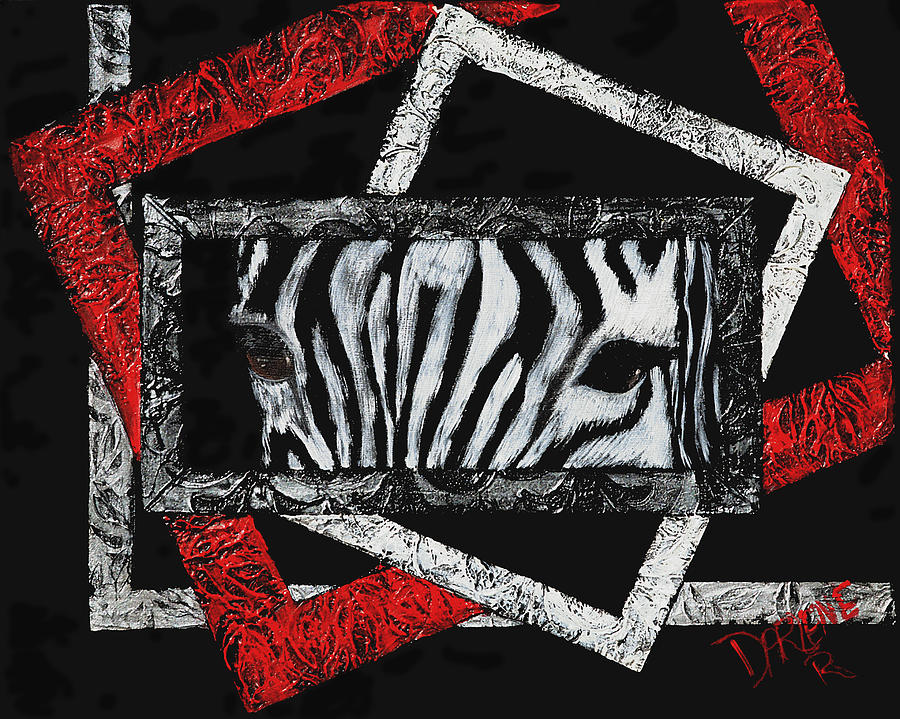 Abstract Painting - Those Eyes...zebra by Darlene Green