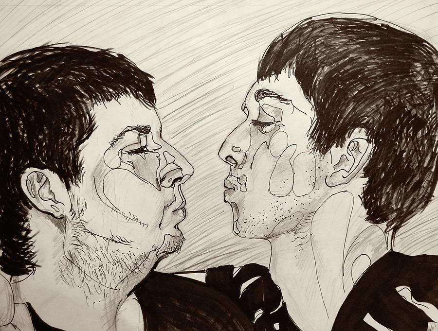 Pen And Ink Drawing - Those Guys. by Emily Jones