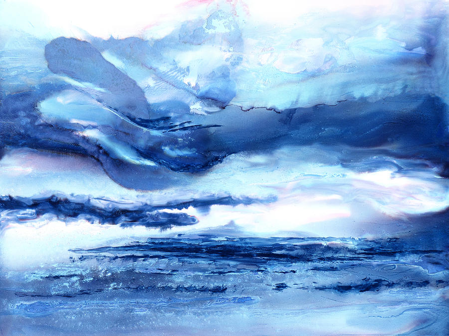Abstract Painting - Those Moody Blues - B - by Sandy Sandy