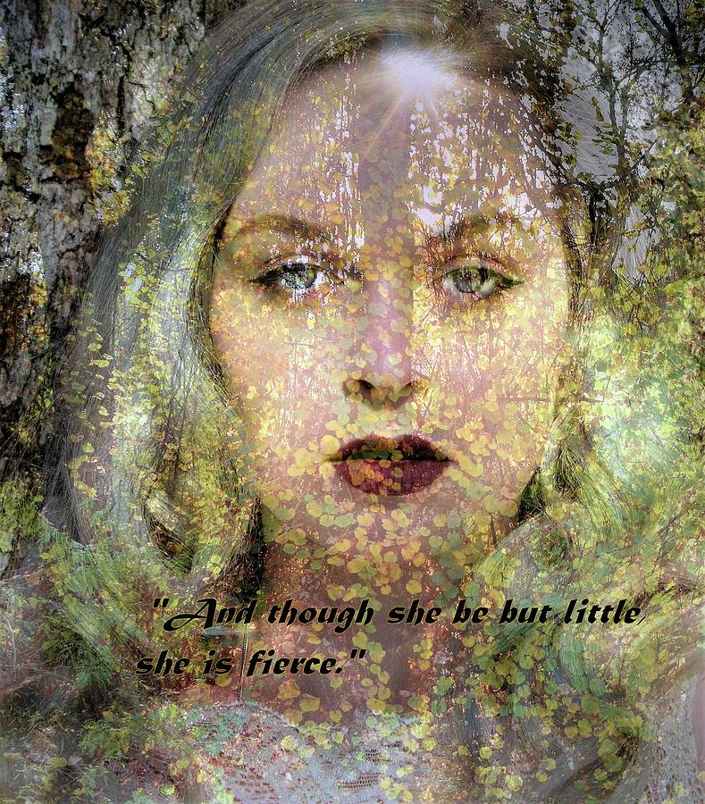 Though She Be But Little, She is Fierce... by Marilyn MacCrakin