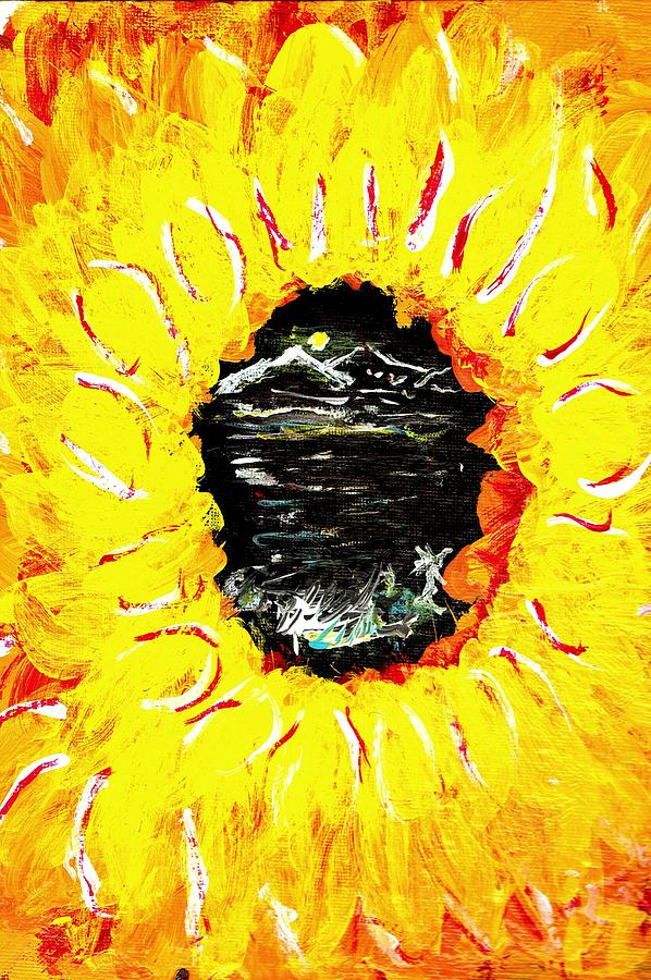 Flower Painting - Though The Eye Of A Flower by Ross Isgar