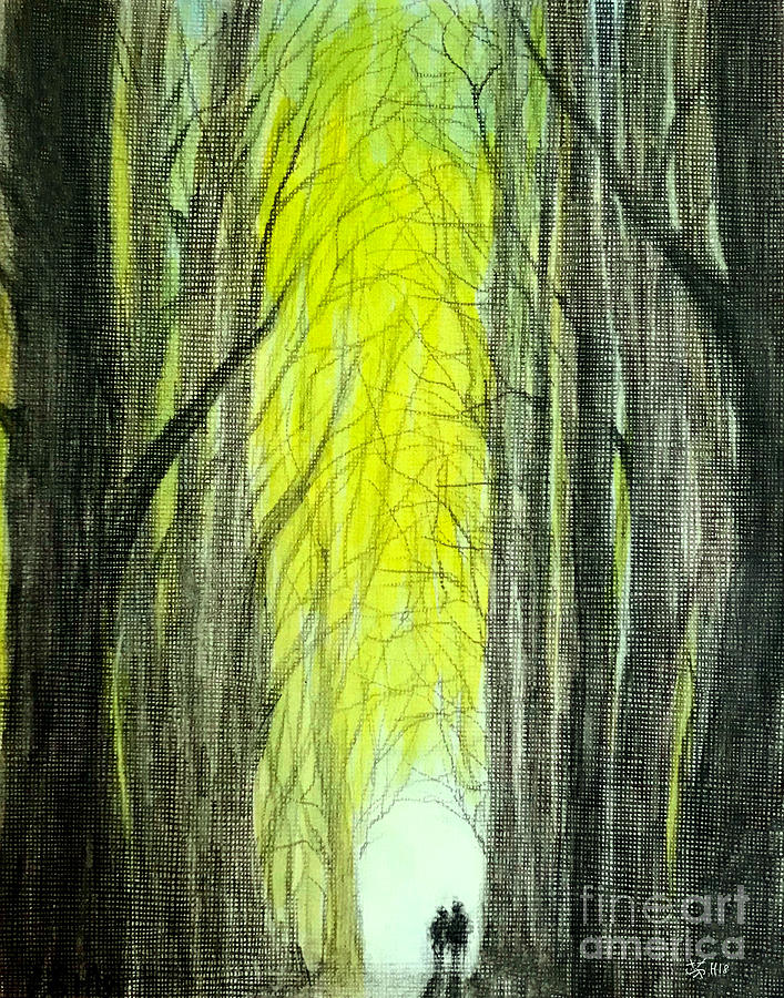 Forest Painting - Though The Forest To The Light  by Wonju Hulse