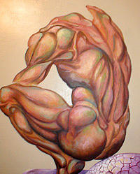 Figure Study Painting - Thought by Lloyd DeBerry