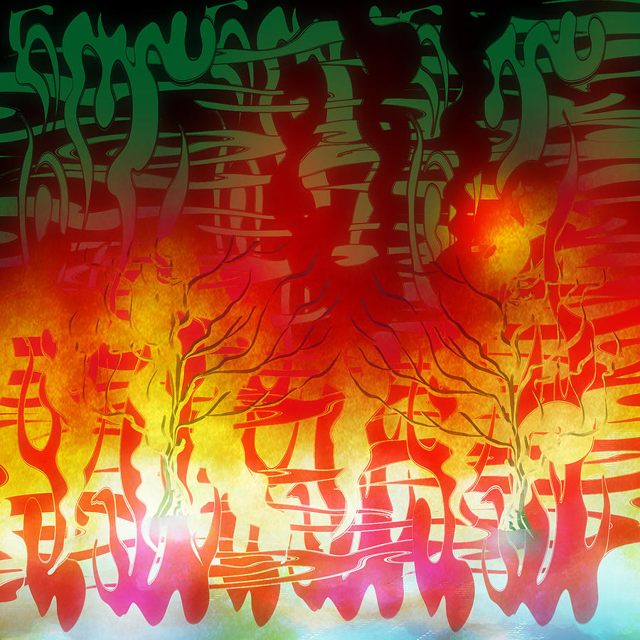 Abstract Digital Art - Thought Process. by Grant  Wilson