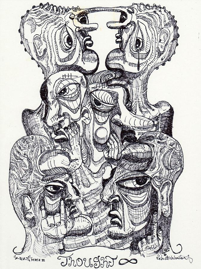 Contemporary Drawing - Thought by Robert Wolverton Jr