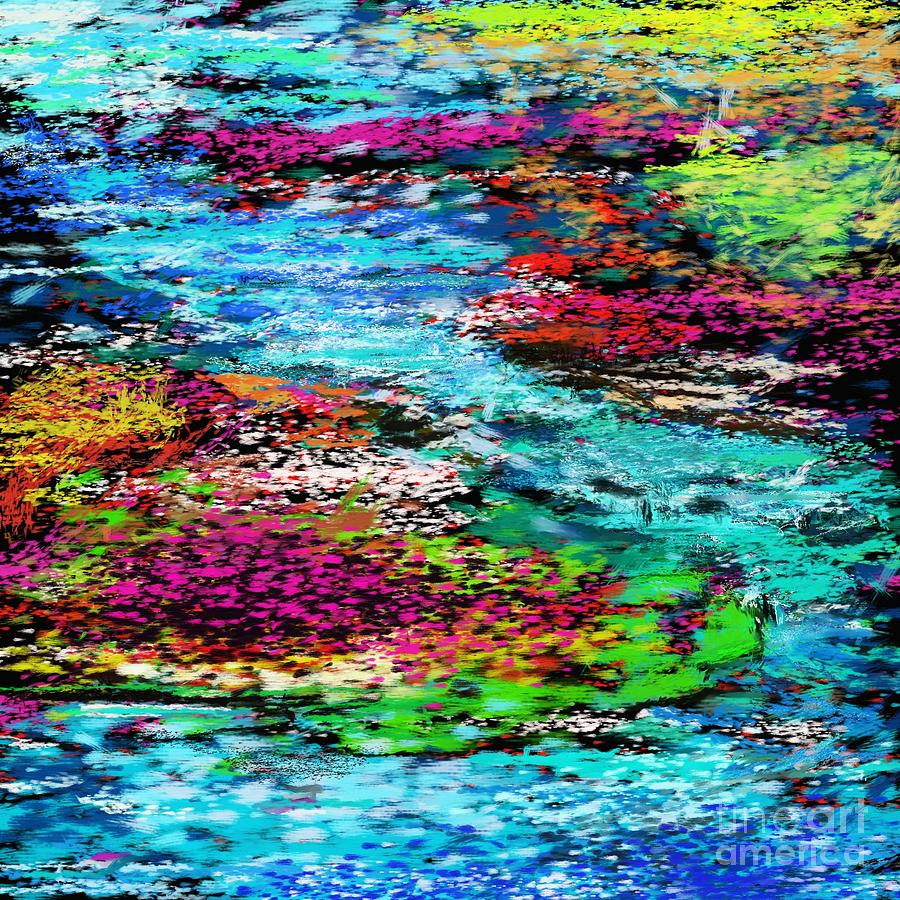 Abstract Digital Art - Thought Upon A Stream by David Lane