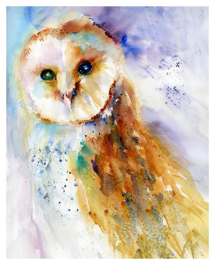 Thoughtful Barn Owl by Christy Lemp
