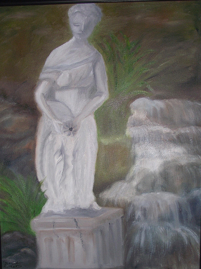 Statue Painting - Thoughtful by Jenell Richards