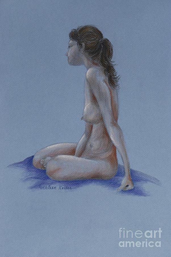 Woman Pastel - Thoughtful by Kathleen Keller