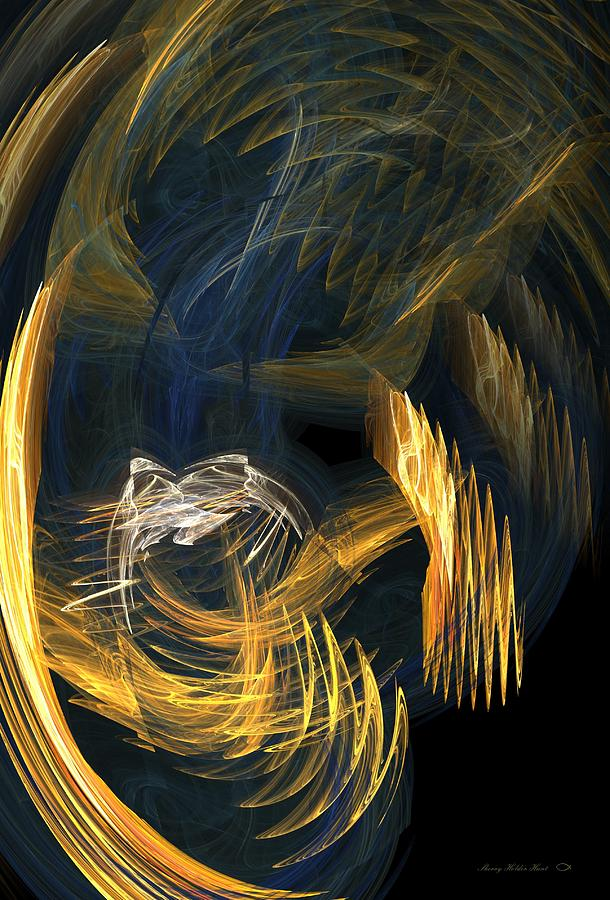 Light Digital Art - Thoughts In Turmoil by Sherry Holder Hunt